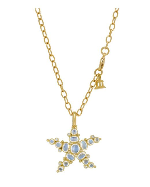 Temple St. Clair | 18k Yellow Gold Medium Sea Star Pendant With Royal Blue Moonstone And Diamonds | Lyst