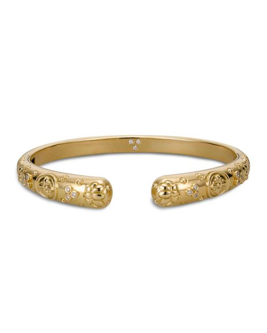 Temple St. Clair - Metallic 18k Yellow Gold Nomad Bella Cuff Bracelet With Diamonds - Lyst