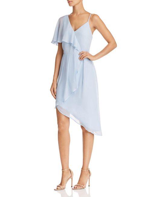 Adelyn Rae - Blue Rita One-shoulder Dress - Lyst