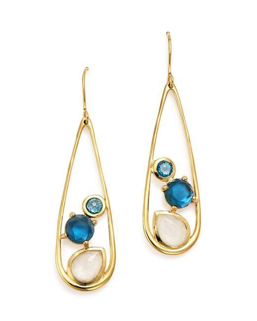 Ippolita - Metallic 18k Yellow Gold Rock Candy® Multi Stone Doublet Drop Earrings In Raindrop - Lyst