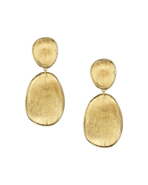 Marco Bicego - Metallic 18k Yellow Gold Lunaria Two Tiered Drop Earrings - Lyst