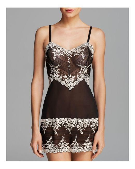 Wacoal | White Embrace Lace Stretch-lace Chemise | Lyst