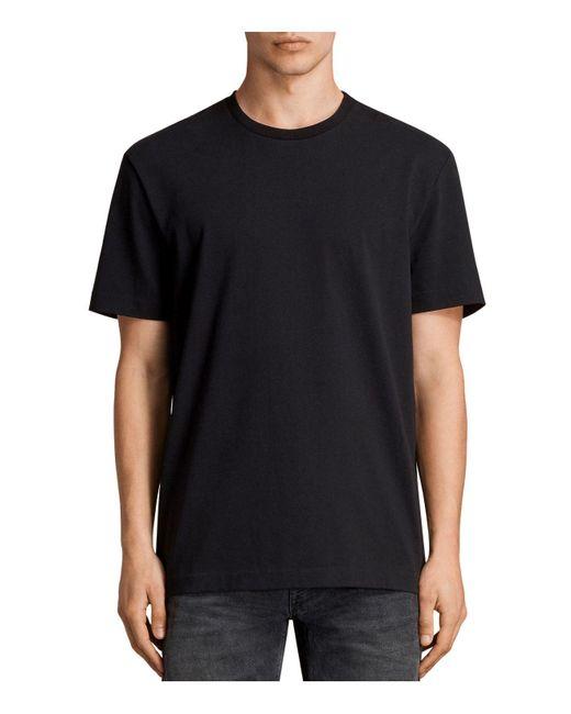 AllSaints   Black Monta Short Sleeve Solid Tee for Men   Lyst
