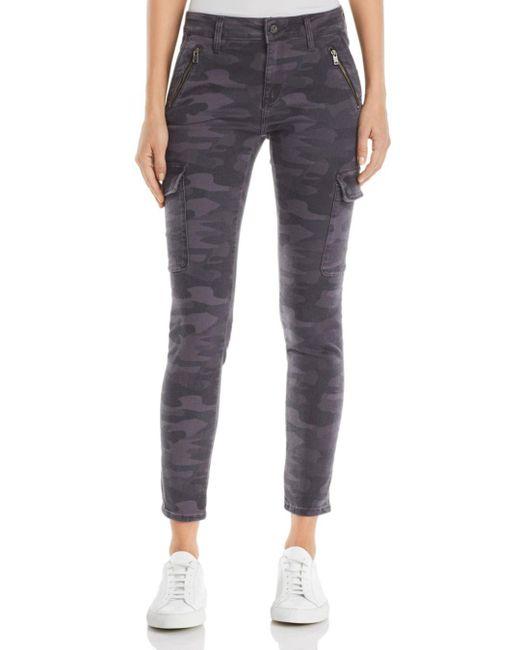 Mavi - Gray Juliette Skinny Cargo Jeans In Smoke Camo - Lyst