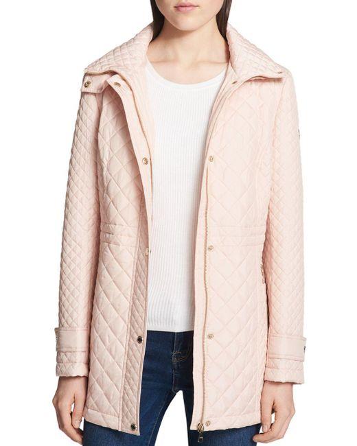 Calvin Klein - Pink Diamond-quilted Jacket - Lyst