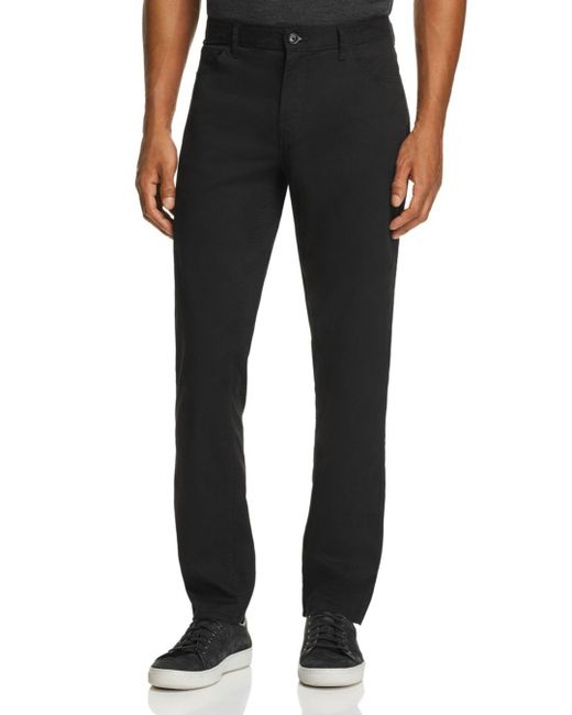 Michael Kors - Black Parker Five-pocket Stretch Straight Fit Pants for Men - Lyst
