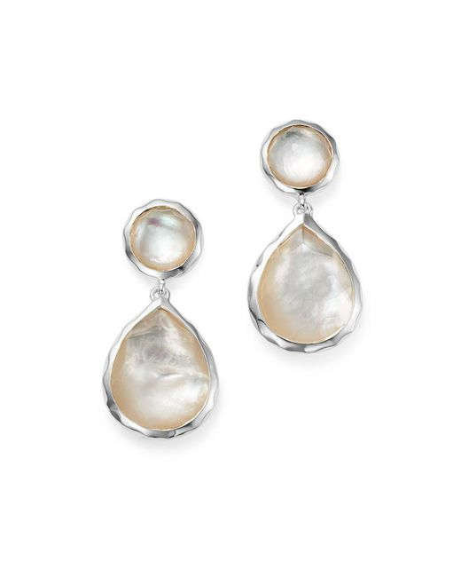 Ippolita - Metallic Sterling Silver Rock Candy Snowman Post Earrings In Mother-of-pearl - Lyst
