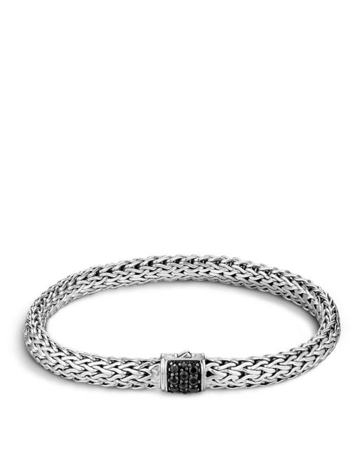 John Hardy - Metallic Classic Chain Sterling Silver Lava Small Bracelet With Black Sapphire - Lyst