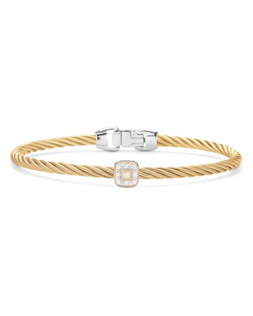 Alor - Metallic Single Square Station Cable Bangle Bracelet - Lyst