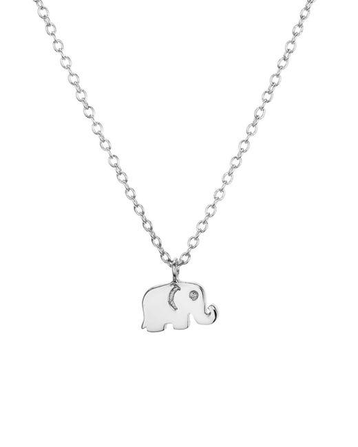 Aqua - Metallic Sterling Silver Elephant Pendant Necklace - Lyst