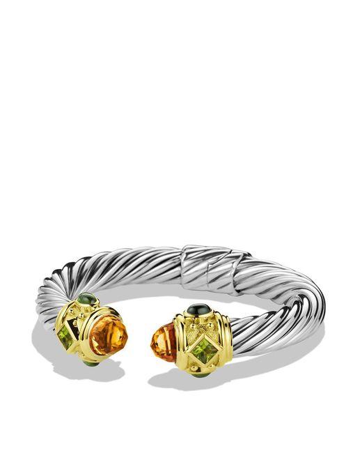 David Yurman | Orange Peridot & Gold | Lyst