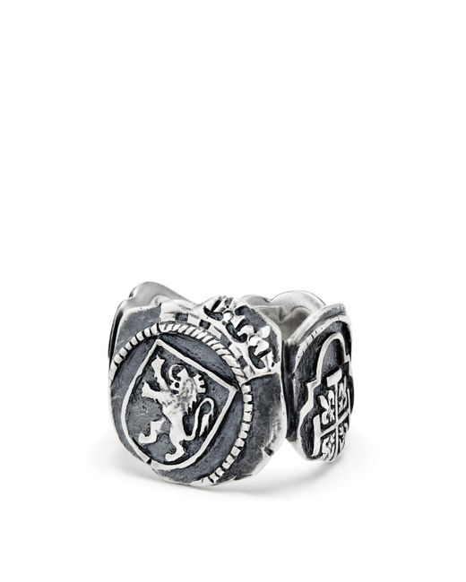 David Yurman - Metallic Shipwreck Signet Coin Ring - Lyst