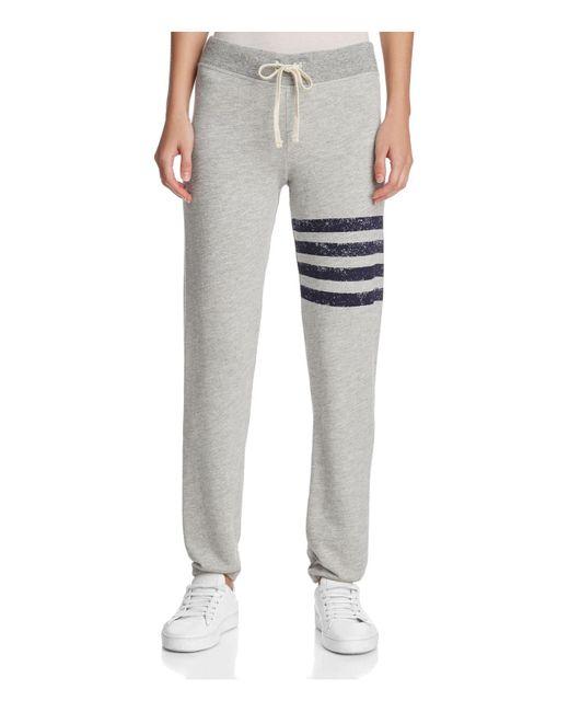 Sundry   Gray Striped Sweatpants   Lyst