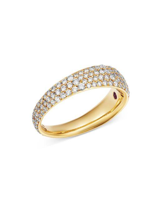 Roberto Coin - Metallic 18k Yellow Gold Scalare Pavé Diamond Ring - Lyst