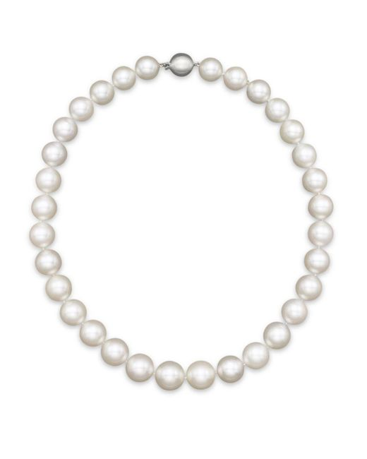 "Bloomingdale's - White South Sea Cultured Pearl Necklace In 14k White Gold, 18"" - Lyst"