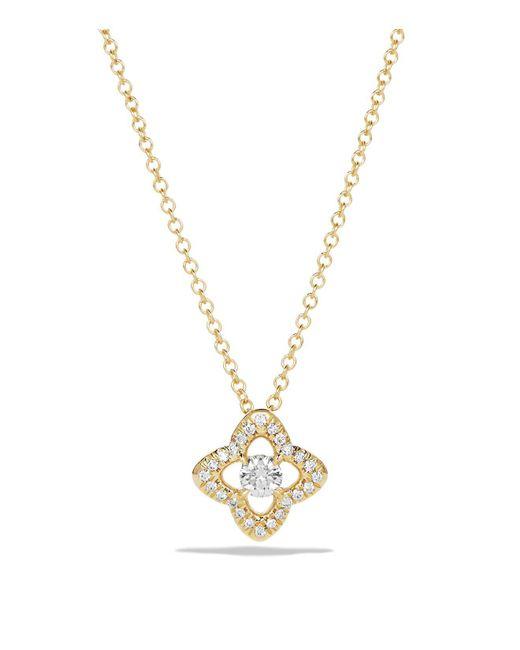 David Yurman - Metallic Venetian Quatrefoil Necklace With Diamonds In 18k Gold - Lyst