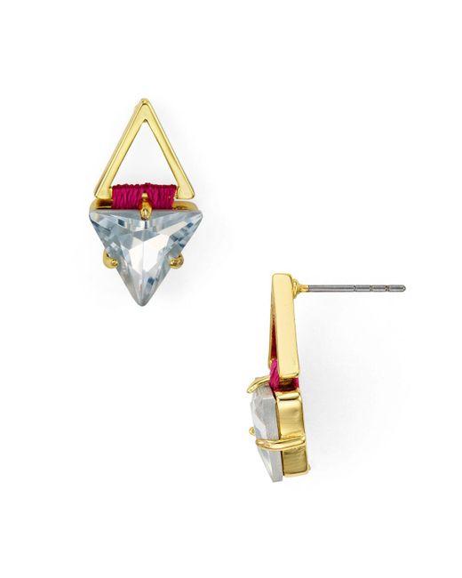 Rebecca Minkoff | White Geometric Stud Earrings | Lyst