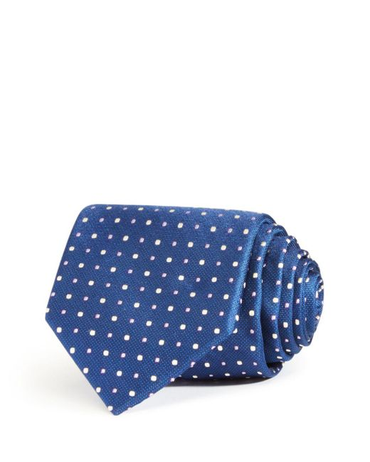 Bloomingdale's - Blue Large Alternating Dots Classic Tie for Men - Lyst