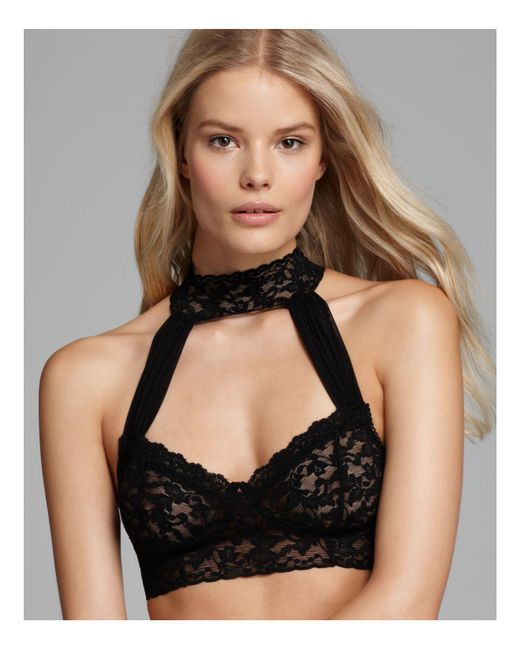 Hanky Panky | Black After Midnight Retro Lace Bralette | Lyst