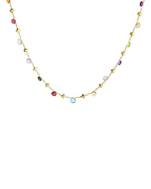 """Marco Bicego Multicolor """"paradise Collection"""" Gold Necklace"""