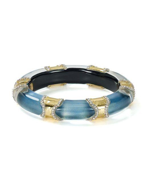 Alexis Bittar | Blue Pavé Segmented Lucite Hinge Bangle | Lyst