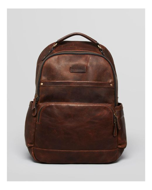 Frye | Brown 'logan' Leather Backpack for Men | Lyst