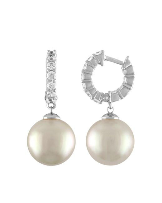 Majorica - White Simulated Pearl Drop Earrings - Lyst