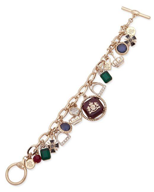 Ralph Lauren - Multicolor Lauren Charm Toggle Bracelet - Lyst