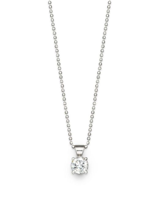 Bloomingdale's - Diamond Solitaire Pendant Necklace In 18k White Gold, 1.0 Ct. T.w. - Lyst