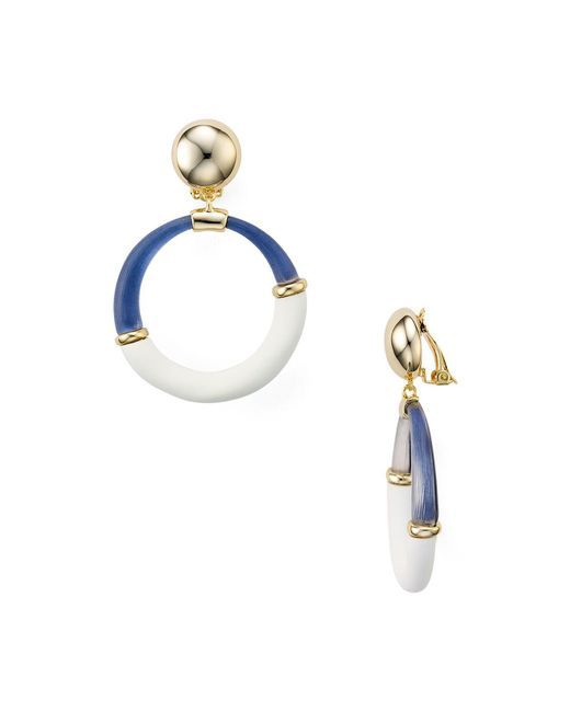 Alexis Bittar - Multicolor Two-tone Hoop Clip-on Earrings - Lyst