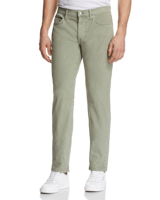 Joe's Jeans - Green Brixton Straight Fit Twill Pants for Men - Lyst