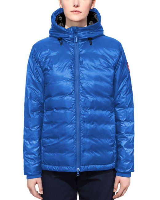 Canada Goose - Blue Down Coat - Pbi Camp Hooded Lightweight - Lyst