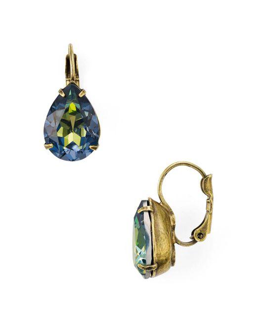 Sorrelli - Multicolor Teardrop Leverback Earrings - Lyst