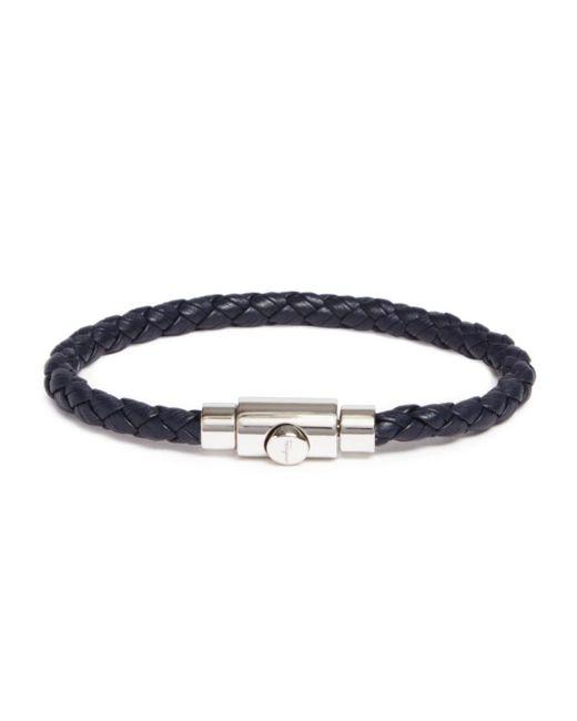 Ferragamo - Blue Woven Bracelet With Prong Closure for Men - Lyst