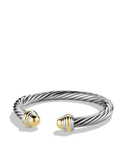 David Yurman - Metallic Cable Classics Bracelet With Gold - Lyst
