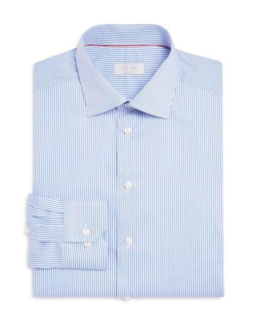 Eton of Sweden - Blue Of Sweden Bengal Stripe Regular Fit Dress Shirt for Men - Lyst