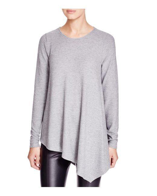 Three Dots | Gray Asymmetric Tunic | Lyst
