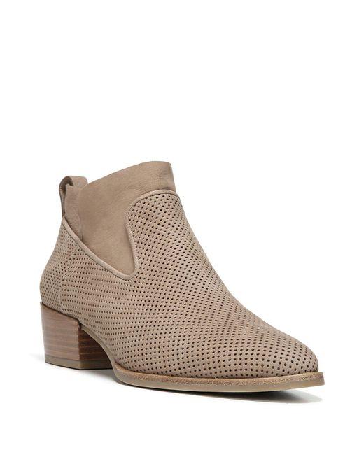 Via Spiga | Brown Tricia Perforated Block Heel Booties | Lyst