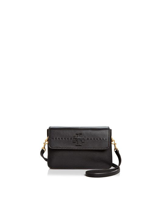 Tory Burch | Black Mcgraw Leather Crossbody | Lyst