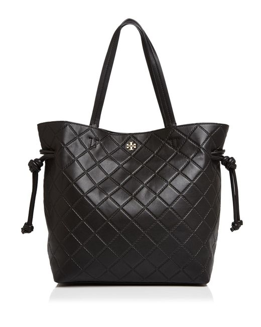 Tory Burch | Black Georgia Slouchy Leather Tote | Lyst