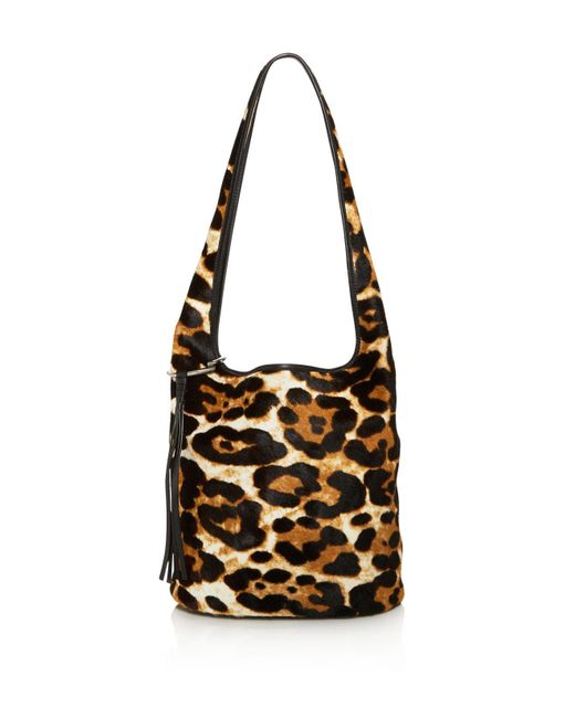 Elizabeth and James - Multicolor Finley Courier Leopard Print Calf Hair Hobo - Lyst