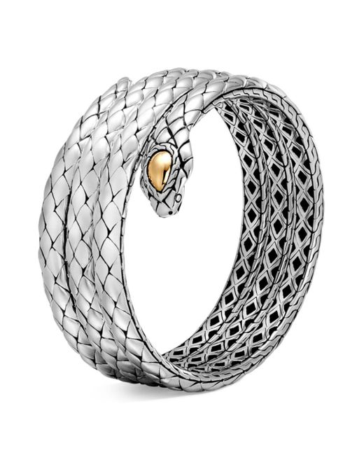 John Hardy - Metallic 18k Yellow Gold And Sterling Silver Legends Cobra Triple Coil Bracelet - Lyst