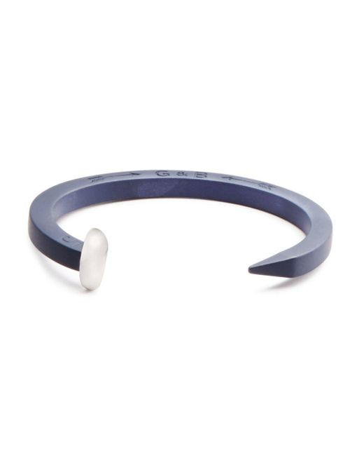 Giles & Brother - Blue Rubberized Railroad Spike Cuff - Lyst