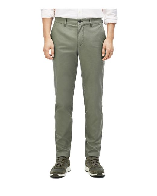 Lacoste | Green Regular Fit Twill Pants for Men | Lyst