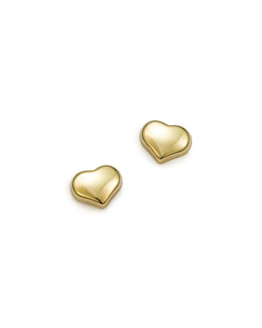 Roberto Coin - Metallic 18k Small Yellow Gold Heart Earrings - Lyst