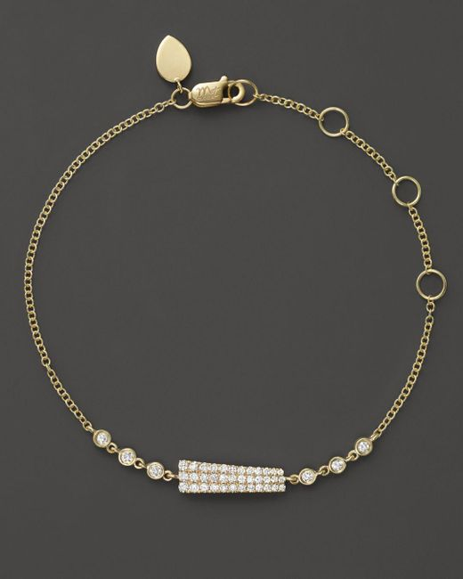 Meira T - Metallic 14k Yellow Gold Asymmetrical Diamond Bar Bracelet - Lyst