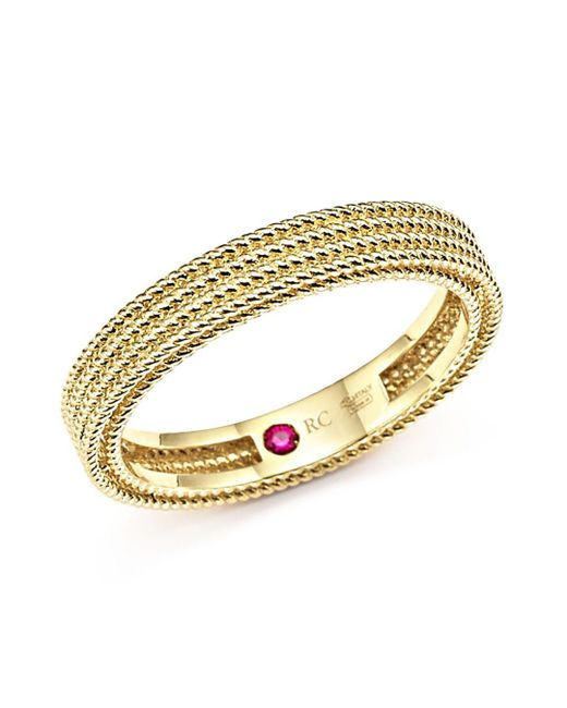 Roberto Coin - Metallic 18k Yellow Gold Symphony Braided Ring - Lyst