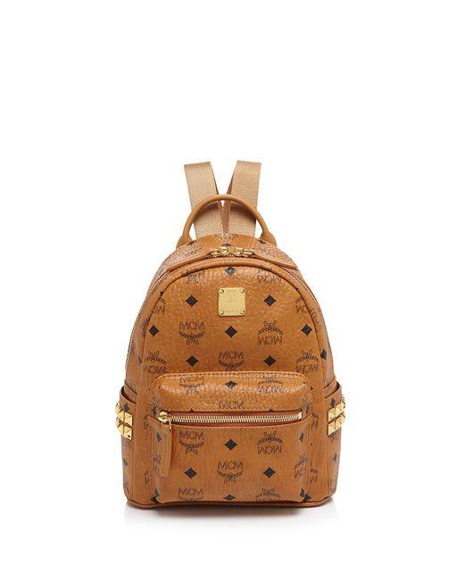 MCM - Orange Stark Mini Backpack - Lyst