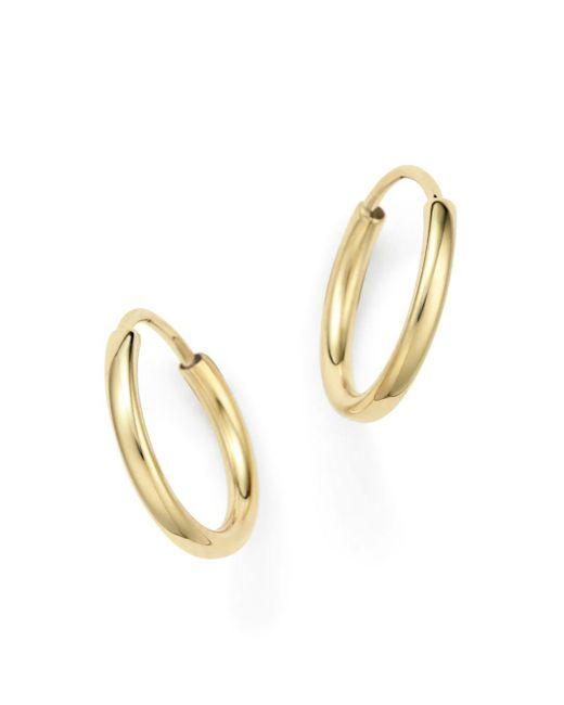 Bloomingdale's - Metallic 14k Yellow Gold Small Endless Hoop Earrings - Lyst