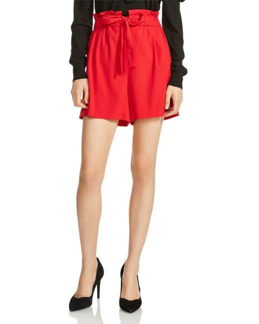 Maje - Red Iona High-waist Shorts - Lyst